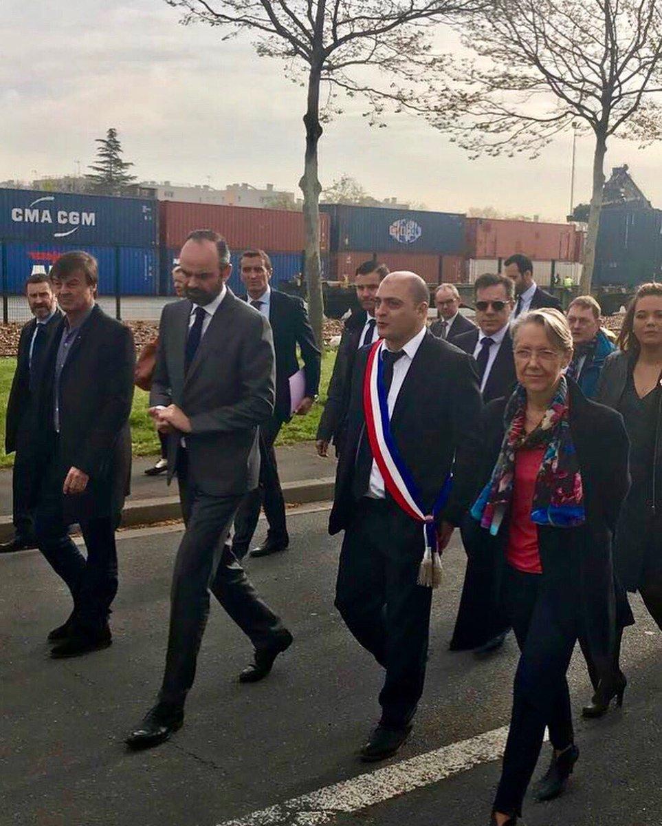 Visite tri-ministérielle au port de Bonneuil