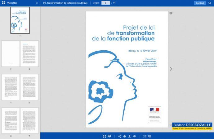 Consultez le Projet de loi «Transformation de la fonction publique»